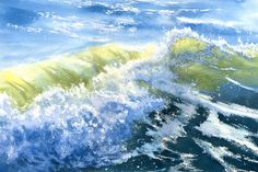 Crashing Wave breaking on the seashore by maryellengolden on Etsy, $60.00