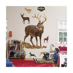 Other Nursery Wall D cor 20430: Fathead Deer Wall Graphic -> BUY IT NOW ONLY: $172.77 on eBay!
