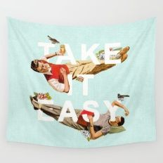 Wall Tapestry featuring Take It Easy by Heather Landis