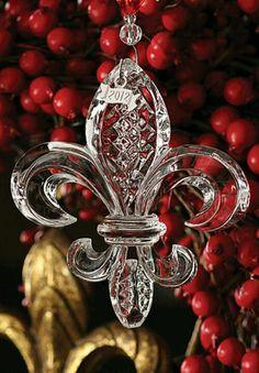2012 Waterford fluer de lis ornament