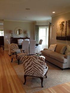pretty zebra chairs