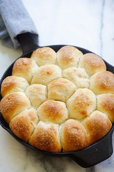 Skillet Dinner Rolls - easiest and best homemade dinner rolls on skillet. Much better than store-bought and takes 60 minutes | rasamalaysia.com