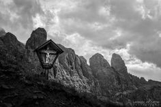 #dolomites #gardena #sella #clouds #storm #cross #mountains #italy