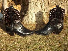 1950s Vintage Rare Western Cowboy Boots Pee Wee Nocona 10E Gene Autry Style #Justin #CowboyWestern