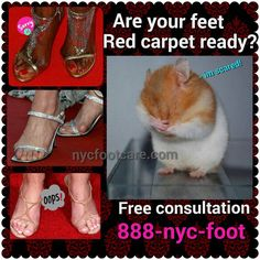 Need red carpet worthy feet? We can help.  Call us for a free consultation.  888-nyc-foot / nycfootcare.com  #NYC #ouch #celebrity #cosmetic #toes #makeup #manhattan #bronx #brooklyn #queens #fashion #fashionista #heels  #ugly #redcarpet #running #firstworldproblems  #yoga #ballerina #feet #ballet #funny #dance #dancer #repost #success #style  #stylist #shoes #fun