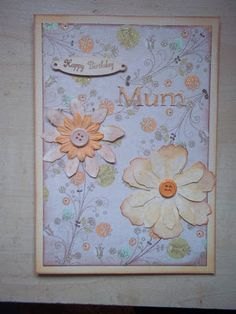 Pretty floral card - http://pink-tea-cup.blogspot.co.uk/