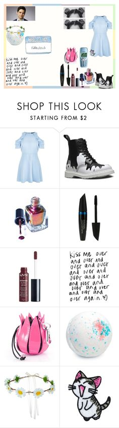 """""""cutie"""" by thin-mint on Polyvore featuring New Look, Dr. Martens, CABARET, Max Factor, Charlotte Russe and Schott NYC"""