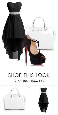 """prom's only 3 years away lmao"" by lauren-mcauliffe14 ❤ liked on Polyvore featuring Michael Kors and Christian Louboutin"