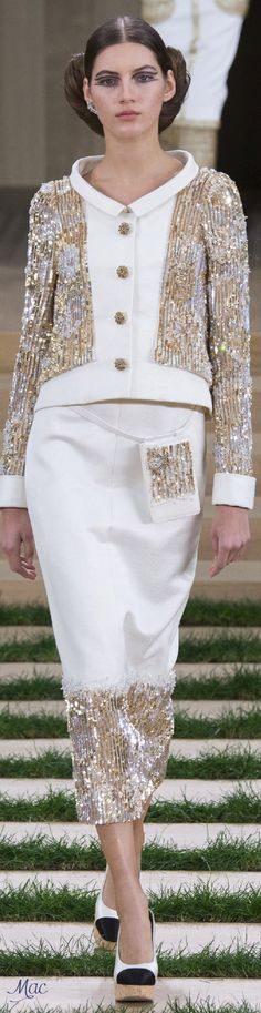 "Spring 2016 Haute Couture Chanel. Modest Fashion doesn't mean frumpy! Fashion Tips (and a free eBook) here: http://eepurl.com/4jcGX Do your clothing choices, manners, and poise portray the image you want to send? ""Dress how you wish to be dealt with!"" (E. Jean) http://www.colleenhammond.com/"