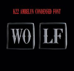 Stainless Steel WOLF 2 Letter Ring Set from Jax Biker Jewellery by DaWanda.com