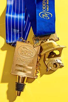 Wine Country Half-Marathons; ODDyssey Half-Marathon http://www.runnersworld.com/races/the-coolest-race-medals/wine-country-half-marathons-oddyssey-half-marathon