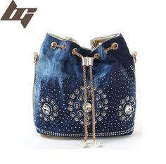 Rhinestone Handbags Designer Denim Handbags Gold Chain Denim Handbags For Women Casual Bling Rhinestone Jeans Women Shoulder Bags Denim Handbags, Gold Handbags, Womens Messenger Bag, Wholesale Bags, Bling, Denim Bag, Denim Jeans, Small Shoulder Bag, Luxury Bags