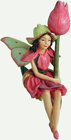 The Tulip Flower Fairy, the charm of Cicely Mary Barker's Flower Fairies has been brought to life in these precious figurines. Display them with the gold cord or use the 6 inch wire pick provided to decorate flower arrangements, plants or gift baskets. Flower Fairies are a special gift that all ages enjoy collecting. To see our entire collection of Flower Fairies click 'Collectables' and then 'Flower Fairies'.