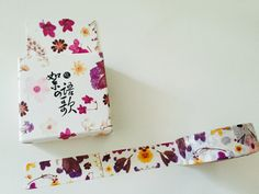 Oriental Floral Boxed Washi Tape by GoatGirlMH on Etsy