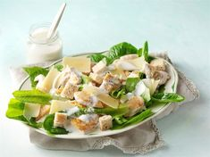Kana-caesarsalaatti Pasta Salad, Cobb Salad, My Cookbook, Superfood, Potato Salad, Salad Recipes, Brunch, Food And Drink, Cooking Recipes