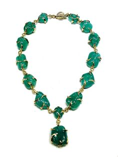 emerald conch pearl jewelry tweet