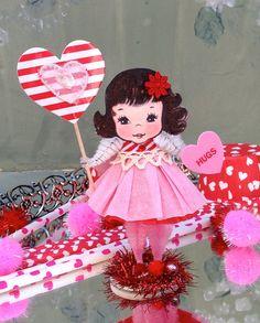 Vintage Inspired SuGaR SwEeT Valentine Paper Doll by saturdayfinds