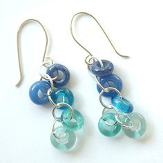 earrings with big hole beads - love the colors