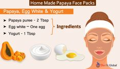 Experience a soothing papaya facial using the best papaya face packs for skin whitening, to get rid of pigmentation, pimples & lot more. Papaya Face Pack, Papaya Facial, Egg Ingredients, Beauty Care, Beauty Tips, Beauty Skin, Beauty Products, Skin Tag Removal, Skin Care Remedies