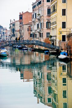 Watercolours, reflections, Venice, Italy by rjmcdiarmid
