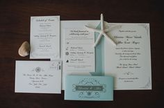 Nautical-inspired stationery idea - ivory + blue cards with elegant calligraphy {Katie Slater Photography}