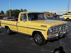 1972 Ford 98010 Miles Goldenrod for sale: photos, technical specifications, description Classic Ford Trucks, Ford Pickup Trucks, Chevy C10, Chevrolet, America And Canada, Old Fords, Cool Trucks, Monster Trucks, Pickup Trucks