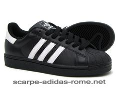 timeless design 4d28e a879a Uomo Adidas Superstar 2 Scarpe Nere Bianche G17067 (Adidas Nuove)