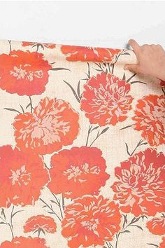 coral peony wallpaper. so fresh!