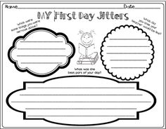 FIRST DAY JITTERS RESPONSE PAGE - TeachersPayTeachers.com ...