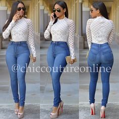 "RESTOCKED www.ChicCoutureOnline.com Search: ""Fatima"" bodysuit ~ ""Mia"" jeans  #fashion #style #stylish #love #ootd #me #cute #photooftheday #nails #hair #beauty #beautiful #instagood #instafashion #pretty #girly #pink #girl #girls #eyes #model #dress #skirt #shoes #heels #styles #outfit #purse #jewelry #shopping"
