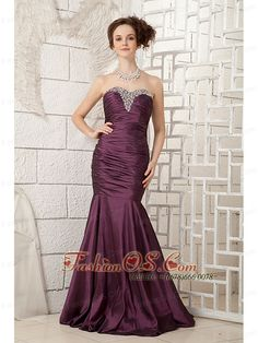 Buy dark purple sweetheart beading office holiday party outfits with ruche from thanksgiving holiday dresses collection, sweetheart neckline mermaid in dark purple purple color,cheap floor length dress with zipper back and for prom formal evening . Discount Prom Dresses, Prom Dresses For Sale, Designer Prom Dresses, Prom Dresses Online, Prom Party Dresses, Pageant Dresses, Quinceanera Dresses, Homecoming Dresses, Bridal Dresses