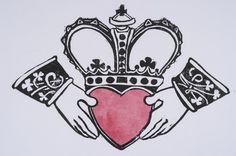 tattoo... maybe? Claddagh meaning: With my hands I give you my heart and crown it with my love.