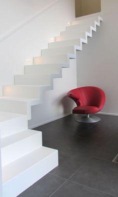 Pearl White designtrap   Design Trappen Vergeert