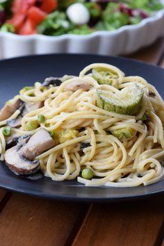 Μακαρονάδα με μανιτάρια & κολοκύθια ενός σκεύους - Craft Cook Love