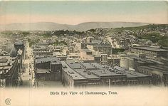 Tennessee, TN, Chattanooga, Birds Eye View UDB (pre-1907) Postcard