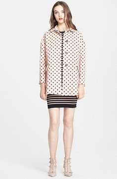 RED+Valentino+Polka+Dot+Oversize+Coat+available+at+#Nordstrom