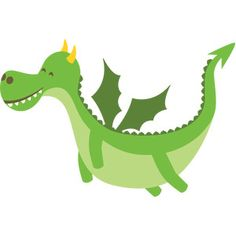Dragon from the Perfect Princess Collection by Echo Park Paper Co. Cute Dragon Drawing, Puff The Magic Dragon, Echo Park Paper, Preschool Education, Cute Dragons, Silhouette America, Silhouette Design, Silhouette Files, Dragon Art