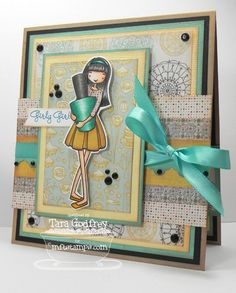 I made this card with the MFT, ALM Polished to Perfection Stamp set and I used the Triple Scallop Border Die-namics.