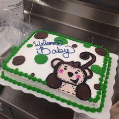 Custom cake buttercream and whip cake. Monkey cake. Walmart order. Special order