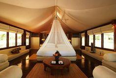 Amanwana hotel on Moyo Island, Indonesia.