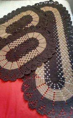 Crochet Kitchen Rug: Sets of Rugs and Walkthroughs Crochet Kitchen, Crochet Home, Diy Crochet, Crochet Doilies, Crochet Baby, Kitchen Rug, Single Crochet, Crochet Rug Patterns, Crochet Carpet