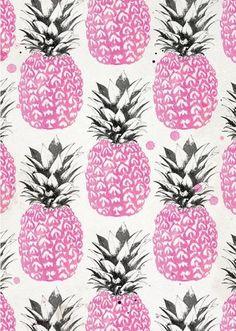 Pink Pineapple Wallpaper #pineapples #design