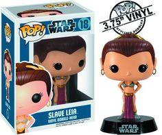 Cabezón Star Wars. Princesa Leia, esclava, Funko POP SW, 9cm. Funko