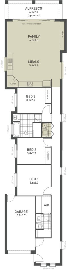 Lot Narrow Plan House Designs Craftsman Narrow Lot House