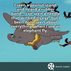 Our favorite elephant. Dumbo Quotes, World Elephant Day, Memes, Disney, Cards, Fun, Maps, Playing Cards, Meme