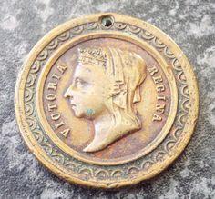 Antique Hornsey 1887 Queen Victoria Golden Jubilee Bronze Medal Queen Victoria, Badges, Royalty, Bronze, Antiques, Royals, Antiquities, Antique, Badge
