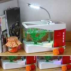 FINGO FGBA-S presents Multifunctional Water Circulation Tank Aquarium with Flash! Featured by LED Light and Night Light! Spot on this superb deal by paying £30.09 and there will be no extra shipping charges.