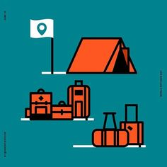 #World #Refugee #day #365daysoficon #calendar #icon #vector #illustration #withrefugees #refugee #peace #safe #safety #camping #bag #luggage #travel #run #escape