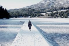 There's nothing better than walking through a completely frozen lake - my favourite lake in my favourite place in the world - Whistler.
