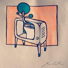 """Desenho de domingo #fineart #surrealism"""